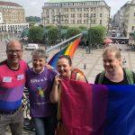 Regenbogenflagge Rathaus HH 2019